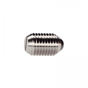 EH 22050.: Spring Plungers ‒ with ceramic ball and slot, stainless steel A4