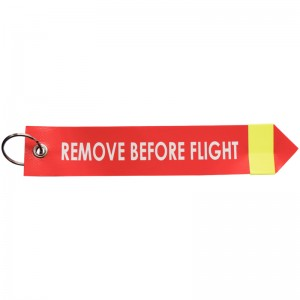 """EH 4217.: Nastri di avvertenza ‒ with lettering """"Remove Before Flight"""", with reflector"""